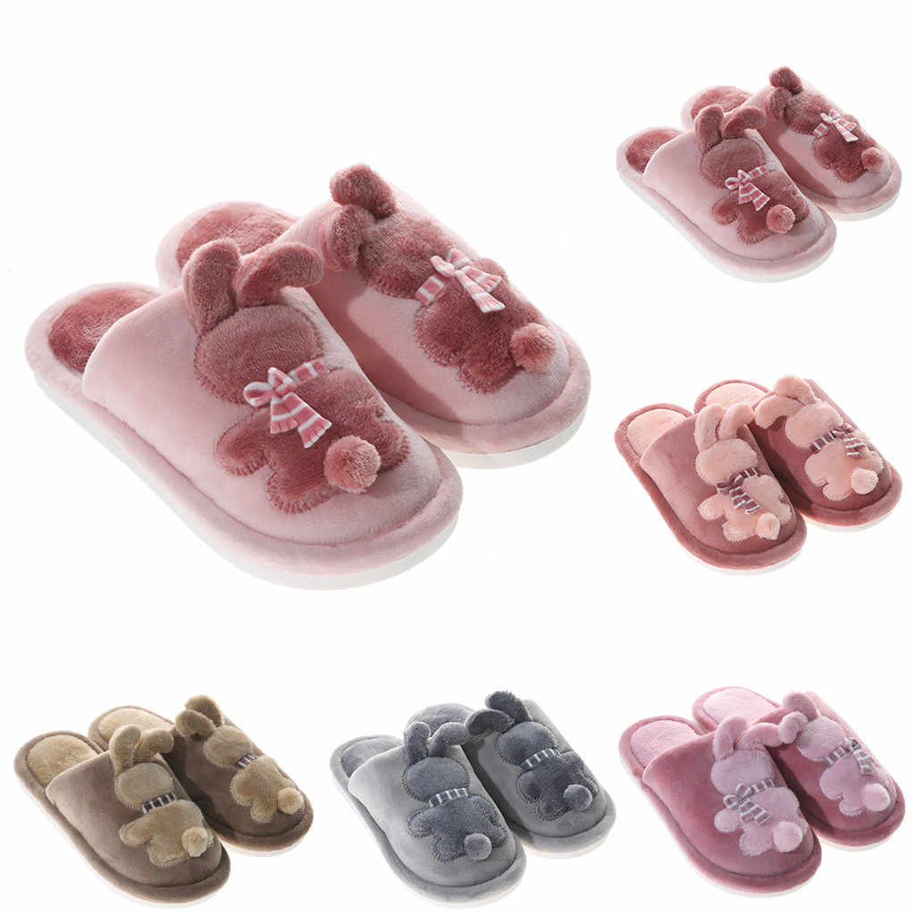 Children Cute Cotton winter Warm Rabbit Warm Non-slip Floor Home Slippers Indoor Shoes Baby Boys Girls Thickening kids Slippers