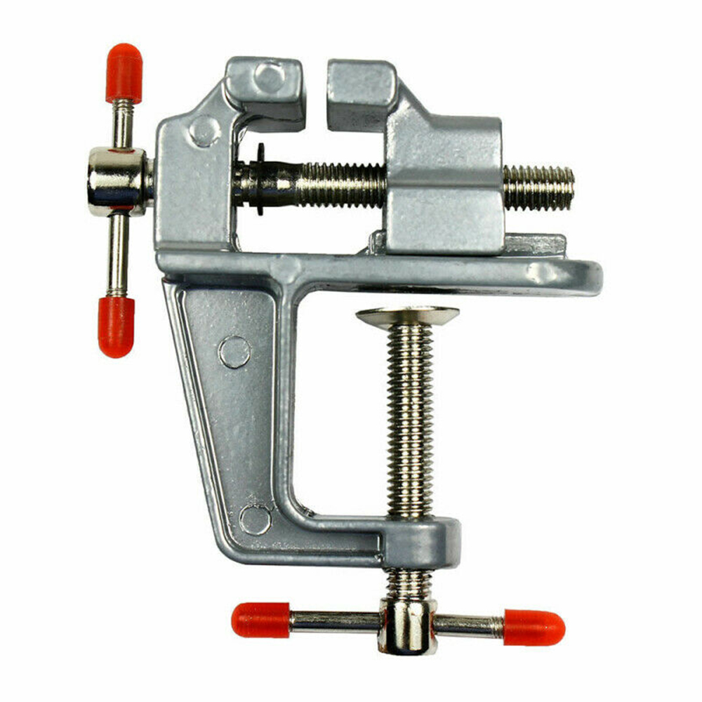 3.5 Aluminum Miniature Small Jewelers Hobby Clamp On Table Bench Vise Muliti-Funcational Mini Tool Vice image