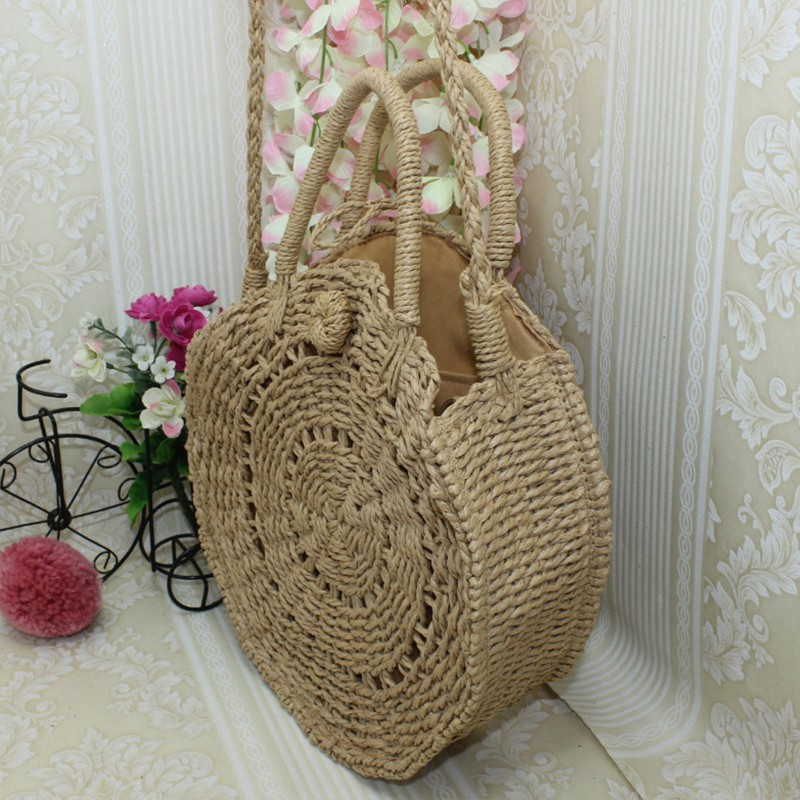 Women Summer Fashion Bag Unique Concise Casual All-match Personality Bag Straw Retro Shoulder Bag