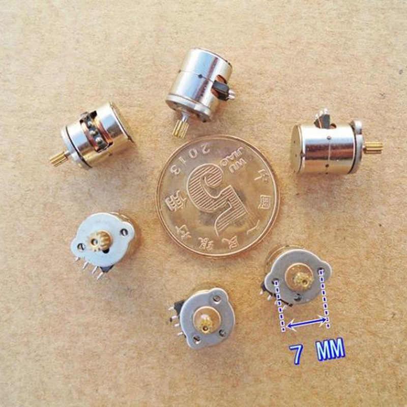 DC 8 ミリメートル 2 相 4 線式マイクロミニステッピングモータ 8 ミリメートル * 9.5 ミリメートルミニステッピングモーター銅ギア DIY デジタルカメラ
