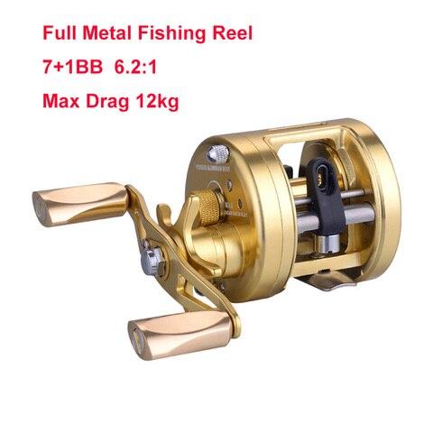 rooxin carretel de pesca do mar carretel de arremesso de metal completo com arrasto 12kg