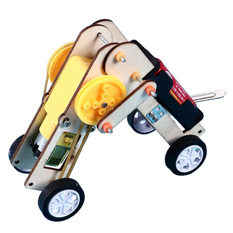 DIY Kit Crawling Robot Science Experiment Kids Education STEM Toys Technology Electronic Construction Project for Children Boy