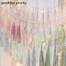 5pcs Mermaid Party Rainbow Tissue Paper Tassel Garland Wedding Baby Shower Decorations Bachelorette Unicorn Supplies