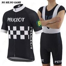 Clásico pro racing ropa de equipo de hombres de manga corta Ciclismo de Carretera jersey y Negro babero retro pantalones cortos de bicicleta ropa