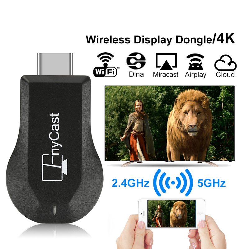 MX18 PLUS Wireless Display TV Dongle 2 Core Support Netflix Youtube For Android/IOS/Mac/Windows,4G Wifi Or Mobile Data TV Stick