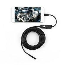 6 светодиод 5,5 мм объектив эндоскоп водонепроницаемый осмотр бороскоп для Android фокус камера объектив USB кабель водонепроницаемый эндоскоп