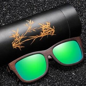 Image 4 - EZREAL Hamdmade Natürliche Hölzerne Sonnenbrille Polarisierte Männer Bambus sonnenbrille Frauen Marke Designer Original Holz Gläser S3833