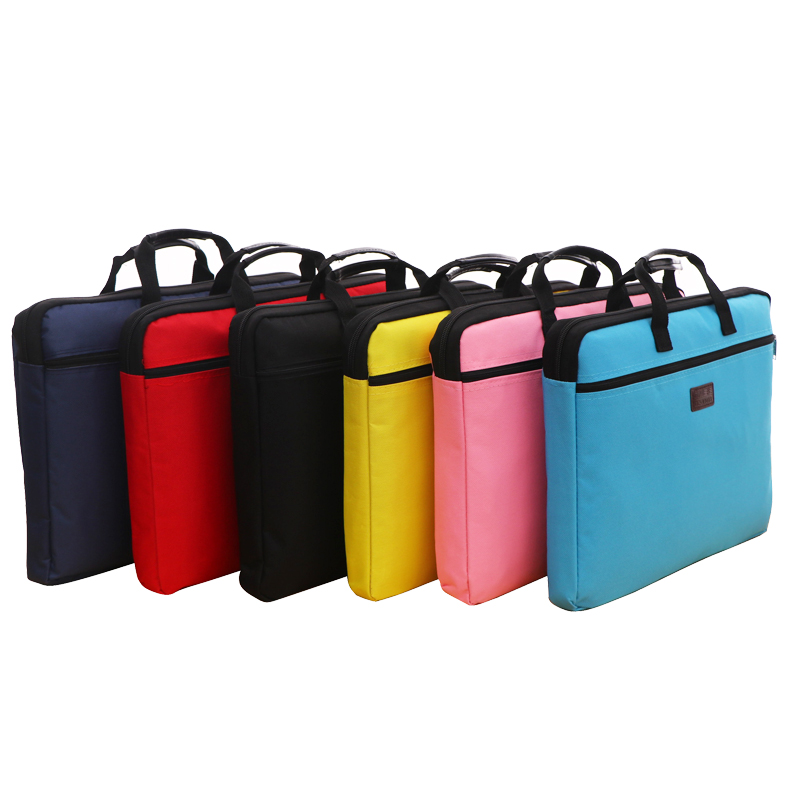 Portable Document Bag Canvas A4 Office Bag Men Women Handbag Multi-layer Information Bag Briefcase Meeting Bags File Holder