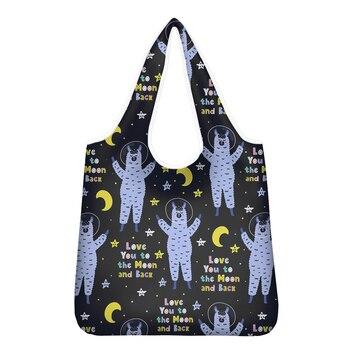 NOISYDESIGNS Fashion Large Tote Shopping Bags Women Cute Alpaca Cartoon Printed Bolsa Feminina Handbags Sac a Main Cloth Storage