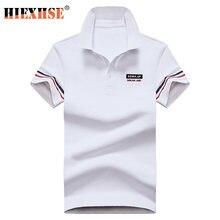 Высококачественная однотонная 3d рубашка поло с вышивкой повседневные