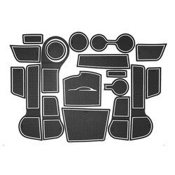 Pad Anti-Sporco Per Kia Rio 4 X-Linea di RIO 2017 2018 2019 Accessori Per Porte Scanalatura Fessura del Cancello coaster Tappetini anti scivolo Interni Auto Gel