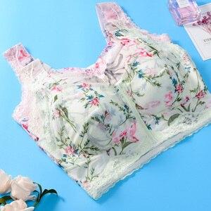 Image 5 - Funklouz Không Dây Khóa Kéo Mặt Trước Phối Ren Mastectomy Áo Ngực Cho Áo Ngực Silicon Chân Giả Ngực In Nữ Trước Đóng Cửa