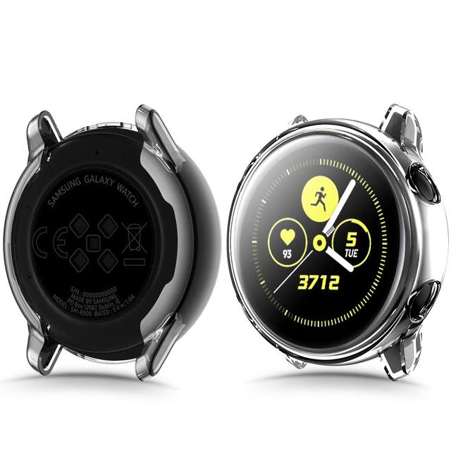Galaxy watch Active2 case For Samsung Galaxy watch active 2 44mm 40mm TPU HD full Screen Protector cover Galaxy watch active