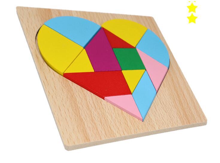 IQ Wooden Brain Teaser Puzzle Children Educational Tangram Puzzles Game For Children