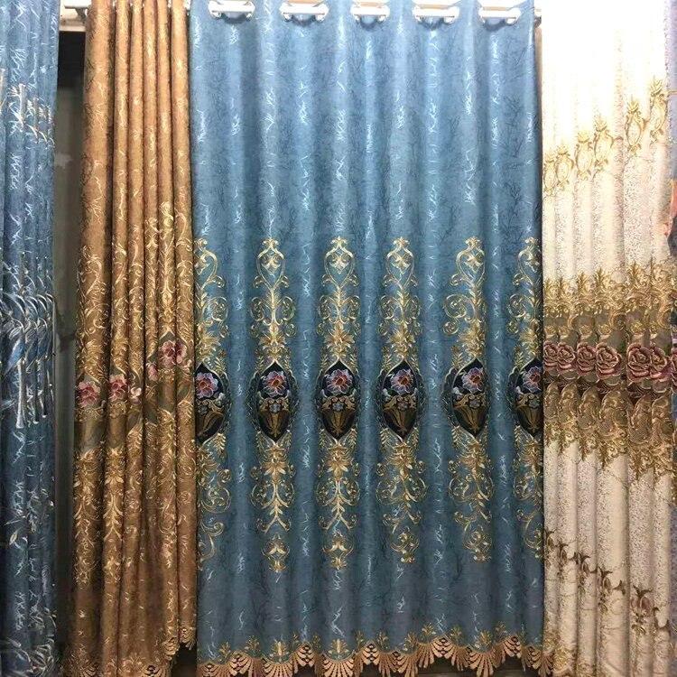 Rideaux de luxe européens pour rideaux de fenêtre Styles pour salon rideaux élégants rideaux européens rideaux brodés