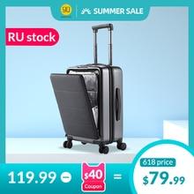 NINETYGO 90FUN equipaje de mano con ruedas giratorias 20 pulgadas Hardshell TSA compatible con maleta bolsillo frontal cubierta de bloqueo
