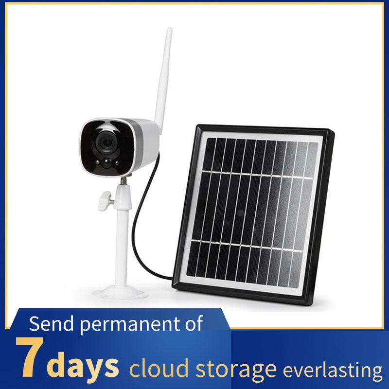 1080P Solar Wifi IP Camera Rechargeable Battery Outdoor HD Two Way Audio Video IR Waterproof Wireless Security Surveillance|Surveillance Cameras| |  -