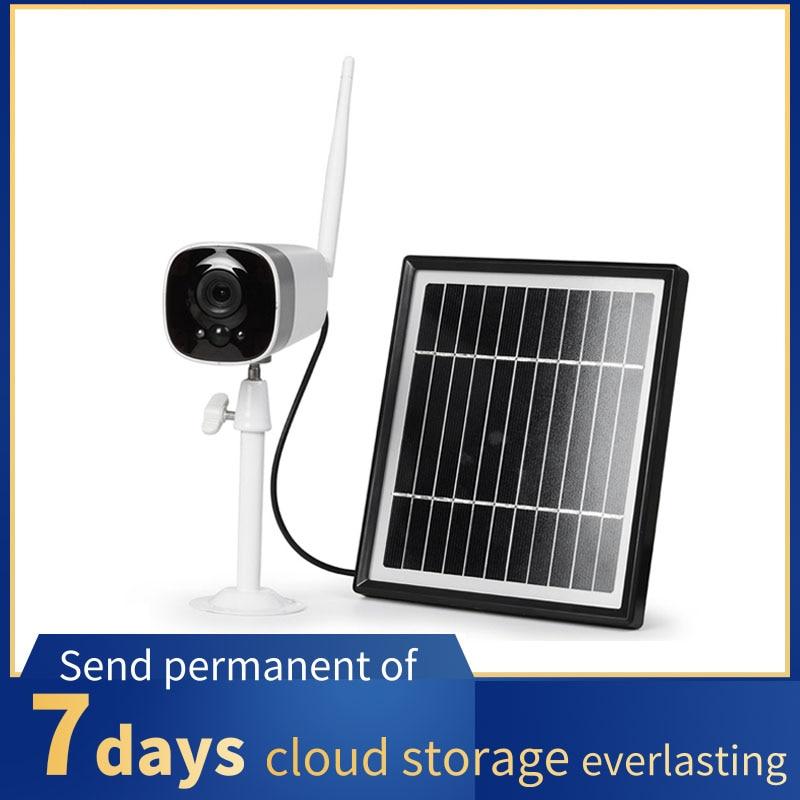 1080P Solar Wifi IP Camera Rechargeable Battery Outdoor HD Two Way Audio Video IR Waterproof Wireless Security Surveillance