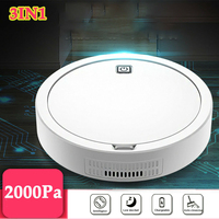 2000Pa Multifunctional Robot Vacuum Cleaner 3.7W USB Rechargeable Smart Sweeping Robot 3 In 1 Automatic Sweeper Vacuum Cleaner|Brooms & Dustpans|Home & Garden -