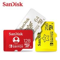SanDisk Neue stil micro sd karte 128gb 256gb 64gb CARTAO de memoria sdxc SPEICHER karten für nintendo Schalter TF karte mit adapter