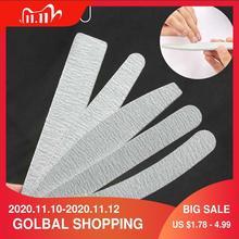 5 pcs/lot Sandpaper Nail File Lime 100/180 Double Side Sanding Buffer Block Set Grey Nail Files For UV Gel Polish Manicure Tool