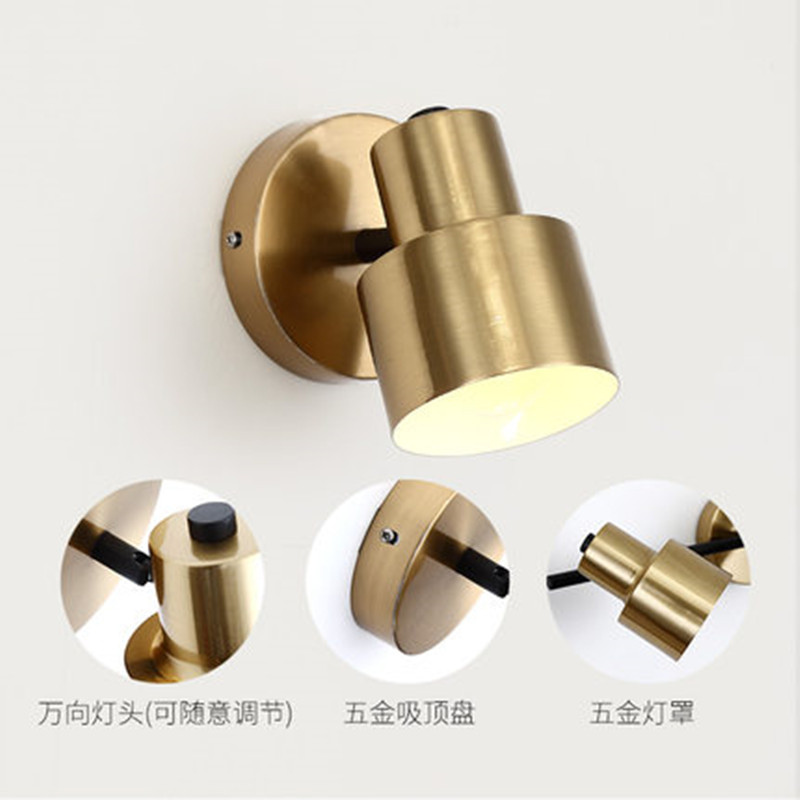 (E27 LED Bulb For Free)Modern 1 /2 /3 Heads led wall light Bathroom mirror light for home/bedroom/stair wandlamp Iron wall lamp