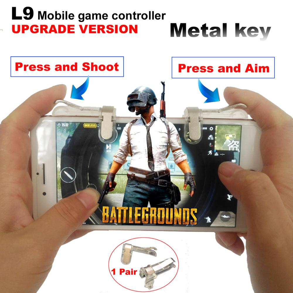 PUBG Mobile Game Controller Trigger Game Fire Button Phone Joystick For PUBG For IPhone 7 8 Plus  For Xiaomi  Android