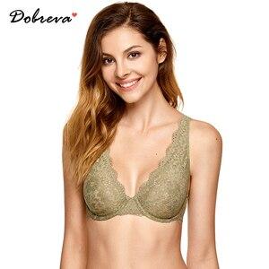 Image 1 - Dobreva mulher sem forro mergulho bralette lingerie sexy para mulher sutiã de renda underwire