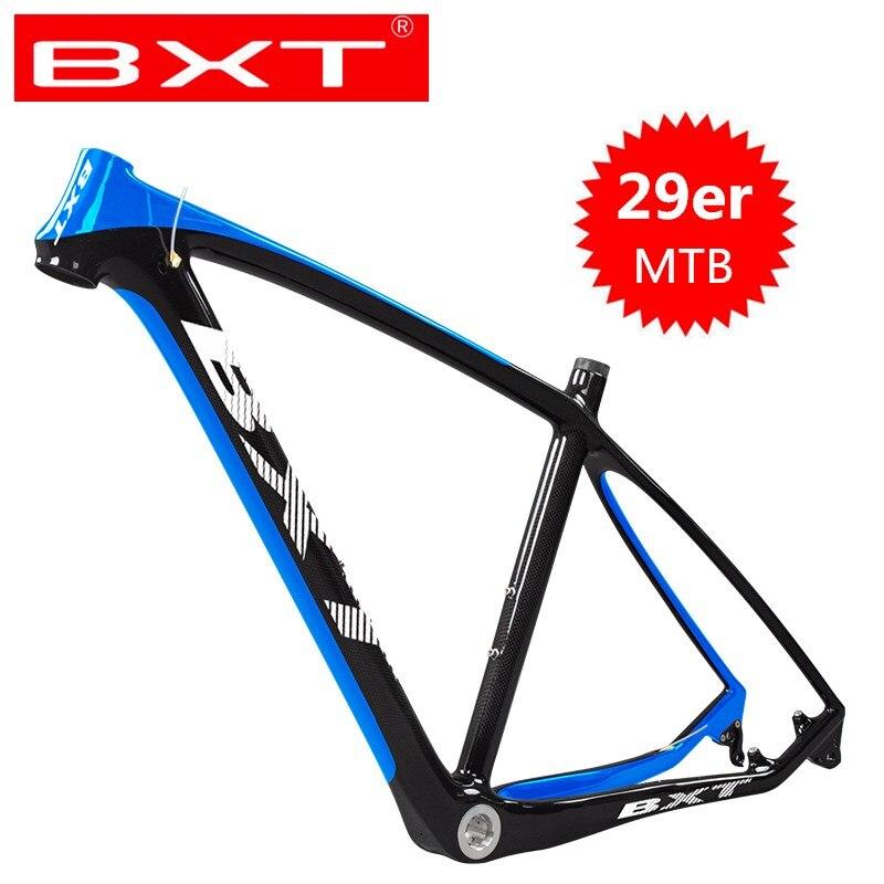 Pas cher T800 carbone vtt cadre 29er chinois BXT plein carbone cadre pour bicicletas vtt 29 carbone vélo cadre vtt|Cadre de vélo|Sports et Loisirs -