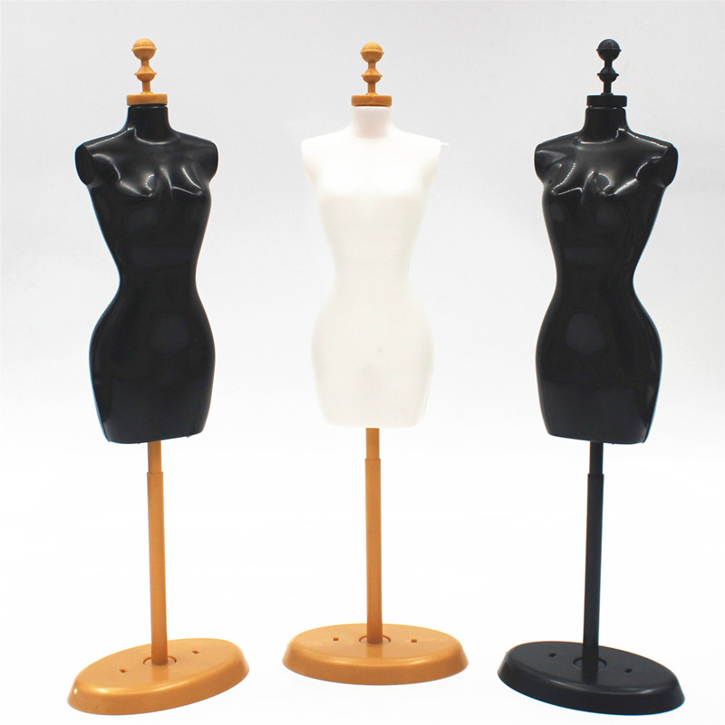 haninetrosty 3pcs Display Gown Dress Clothes Rack Doll Mannequin Hollow Model Holder Stand Brabie Blyth