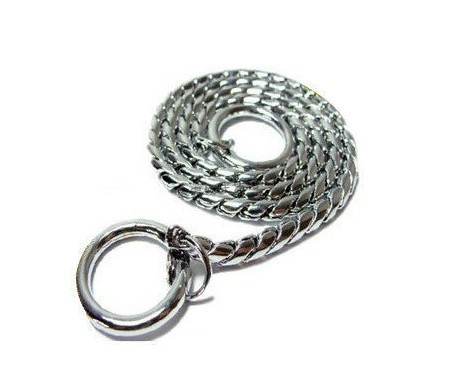 Pet Necklace Dog P Pendant Snake Chain Game Only Neck Ring Dog Iron Chain Five Pieces Model