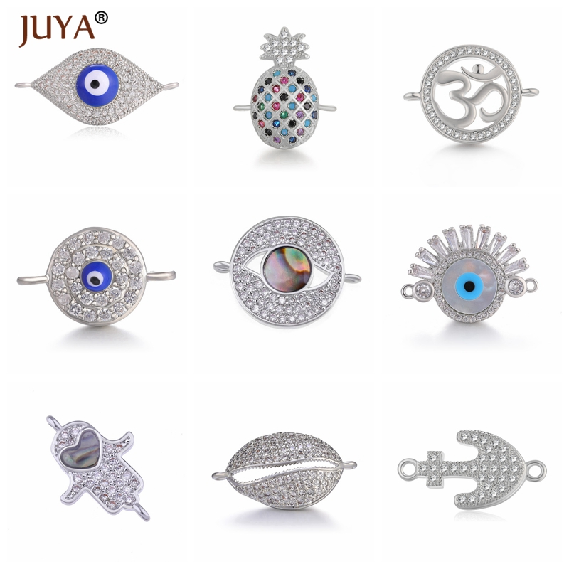 Jewellery Making Supplies 10 Styles Luxury Connectors Accessories For Bracelets Necklaces Earrings Making Jewelry Material