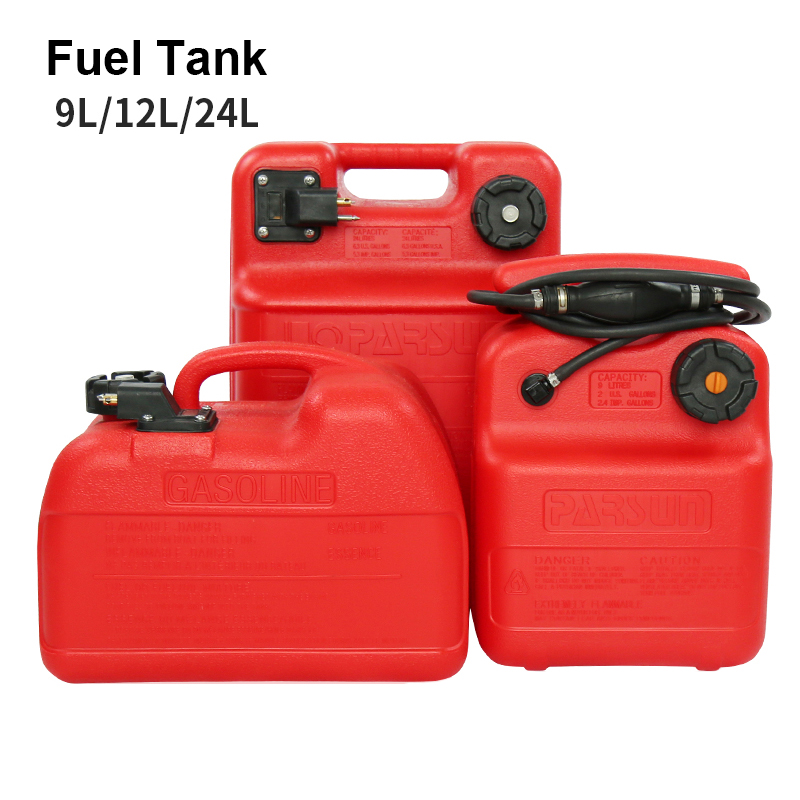 9L/12L/24L Boat Yacht Engine Marine Outboard Fuel Tank Oil Box Thicken Red Portable Anti-static Corrosion-resistant