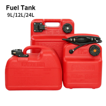 9L12L24L Boat Yacht Engine Marine Outboard Fuel Tank Oil Box Thicken Red Portable Anti-static Corrosion-resistant