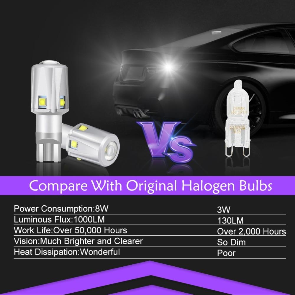 1 шт. 1800LM W16W T15 Светодиодный лампочки CANBUS OBC Error Free XBD высокой Мощность чип 921 912 светодиодный резервный свет заднего хода, сигнализирующий фонарь белого цвета