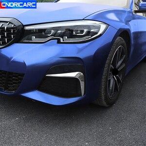 Передняя противотуманная фара из нержавеющей стали, рамка для бровей, декоративные наклейки, отделка для BMW 3 серии G20 G28 2020, Модифицированная...