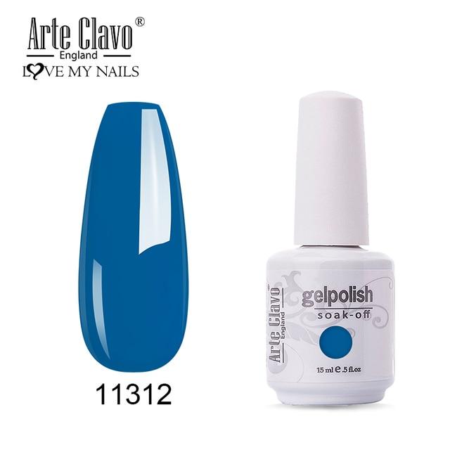 Arte Clavo 15ml Fluorescent Color Nail Gel Polish Fashion Long Lasting Nail Art Manicure LED Soak Off Neon Nail Lacqure Polish