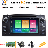 2 din Octa Core Android 9.0 4G+64G car dvd player For Toyota Corolla E120 BYD F3 multimedia player stereo GPS radio navigation