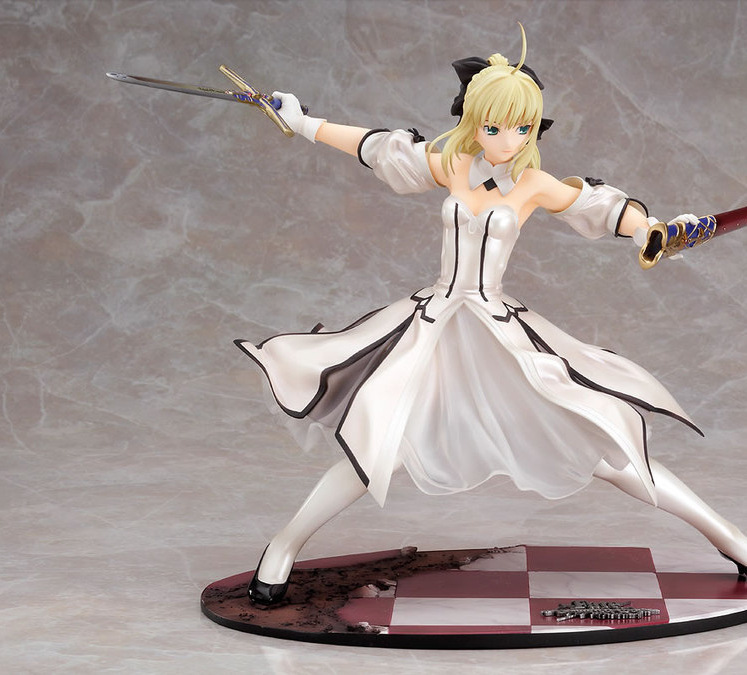 Action Figure white Sebastian Night of Destiny fate Saber Lily 21cm Golden Victory Sword PVC gifts Toys Model Japanese Anime image