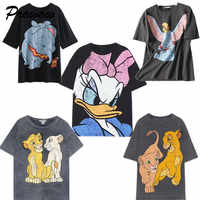 Summer fashion tshirt women harajuku streetwear cartoon Mickey print cotton o-neck loose Casual tshirt streetwear tops plus size