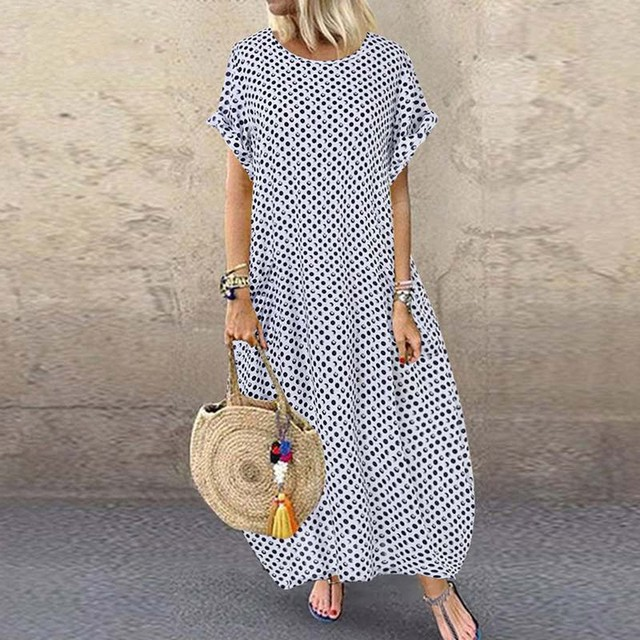 Casual Women Polka Print Dress