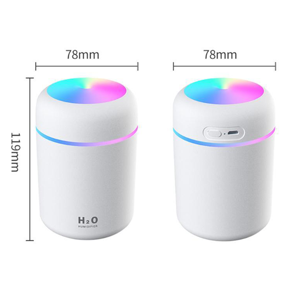 Electric Air Mist Humidifier 300ml Essential Oil Diffuser Home Fragrance USB Cool Mist Humidifier Air Freshener for Office Car