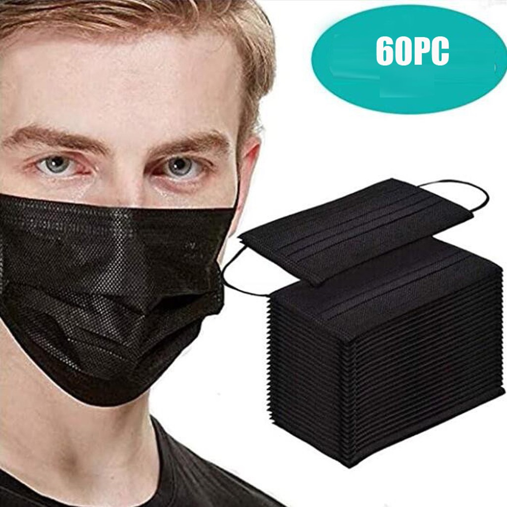 60PC Anti Dust Mouth Face Masks Mascherine Dust-proof Mascarillas Proteccion Disposable Mouth Cover Mouth Face Mask Respirator