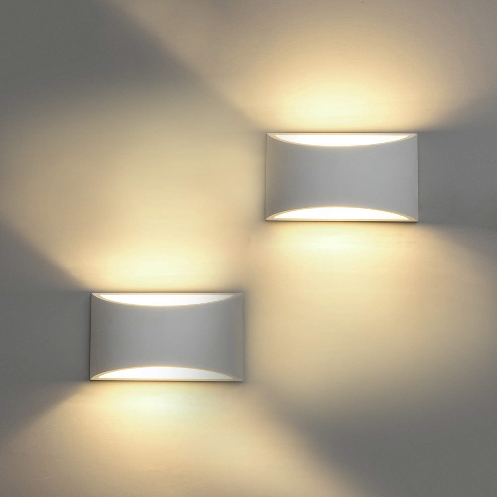 ฉาบผนังหลอดไฟ LED Sconces โมเดิร์นผนังยิปซั่ม 5W G9 หลอดไฟ LED AC110V AC220V บ้านโคมไฟ lampe Murale-ใน โคมไฟติดผนัง LED ในร่ม จาก ไฟและระบบไฟ บน title=