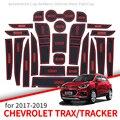 Противоскользящими резиновыми затворный слот подставка под кружку  для Chevrolet Trax трекер Холден 2013 ~ 2019 аксессуары проданы нащего завода рези...