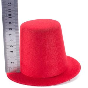 Image 4 - A006 10pcs/lot  Mini Top Tall Hat High 9cm Millinery Fascinator Base DIY Craft Fashion Simple Solid Color Hats