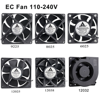 1pcs Gdstime EC 110V 120V 220V 240V 60mm 80mm 90mm 120mm Radiator Cooling Fan 80x25mm 2 wire Ball Bearing Brushless Axial Cooler Fans & Cooling    -