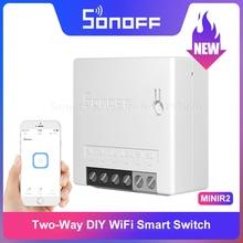 Itead Sonoff מיני R2 שדרוג שני דרך WiFi חכם מתג קטן גוף שלט רחוק באמצעות eWeLink APP תמיכה Alexa google בית IFTTT