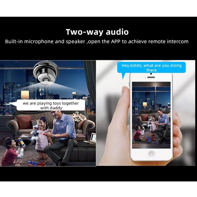 SDETER 1080P Wireless Mini WiFi Camera Home Security Camera IP CCTV Surveillance IR Night Vision Motion Detect Baby Monitor P2P 2