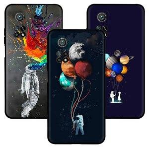 Image 2 - Kılıf Xiaomi Mi not 10 11 Ultra 11i 10T Pro Lite Poco X3 NFC F2 F3 M3 Anti sonbahar yumuşak telefonu kılıfı güzel uzay astronot